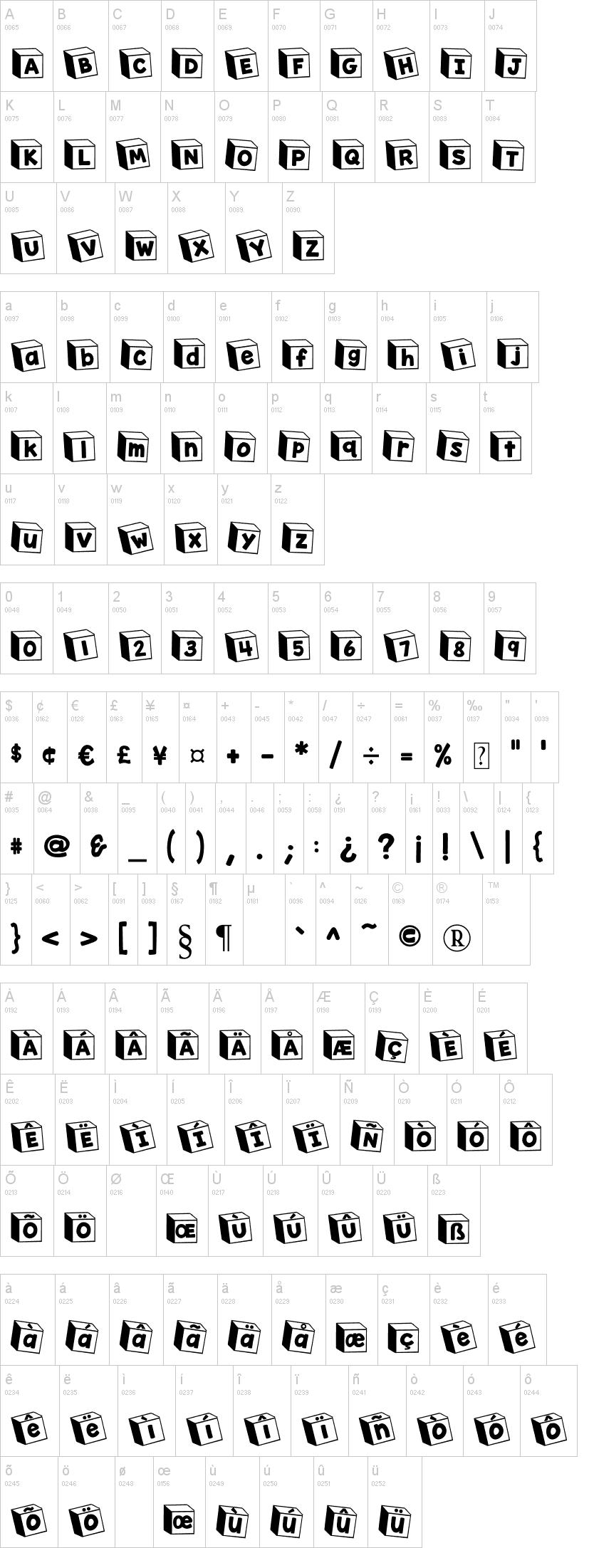Toy Blocks Font 109
