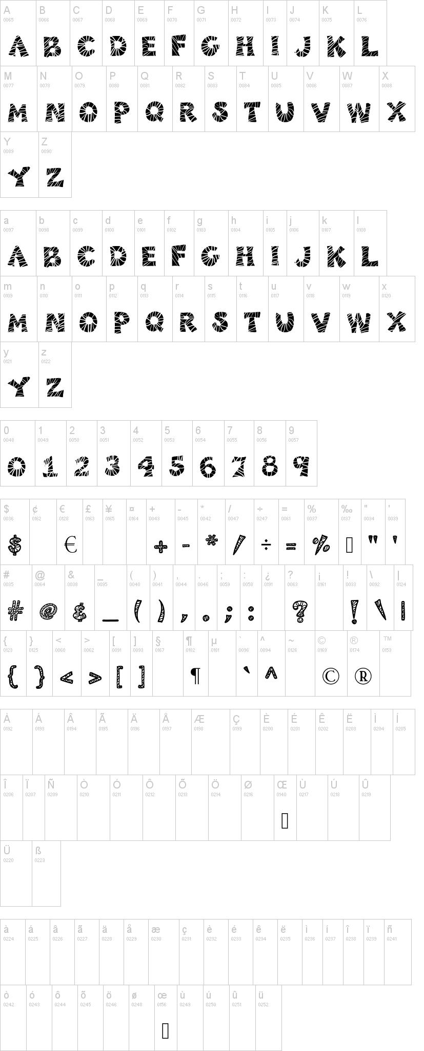 KB3 Zebra Patch Font   dafont.com Zebra 0 Font
