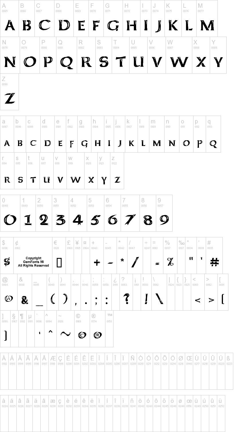 Kelt Caps Freehand Font
