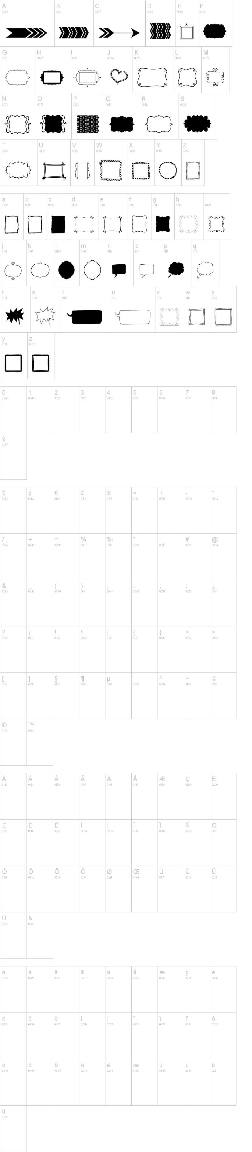 kg flavor and frames two font