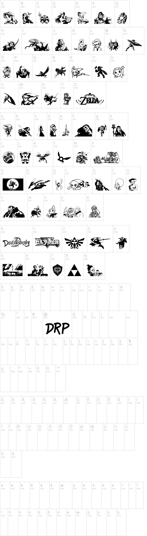 Legend Of Zelda Trifont Dafont Com