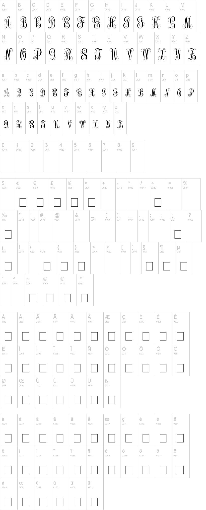 Monogram kk dafont