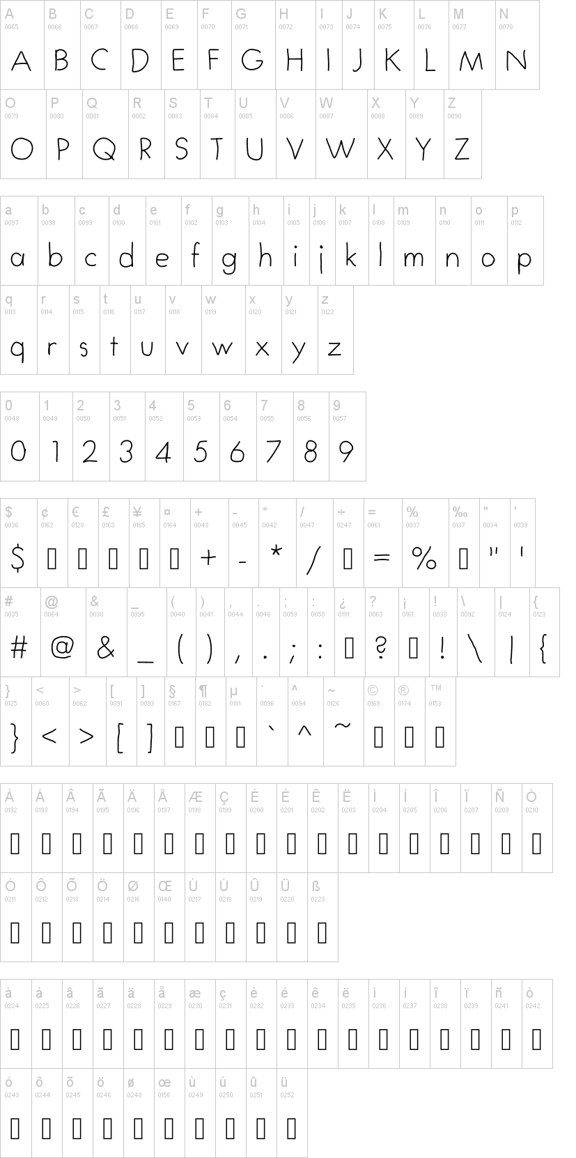 My First Font