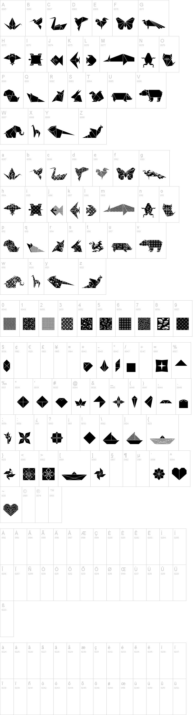 Origami Bats Font Dafont