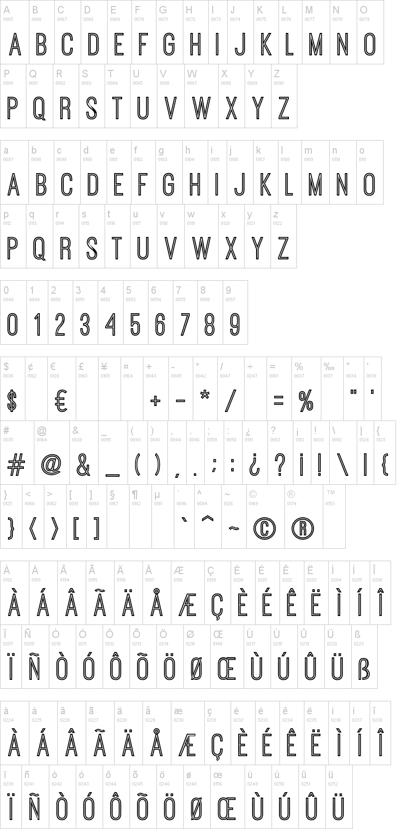 Ostrich Sans Inline Font | dafont com