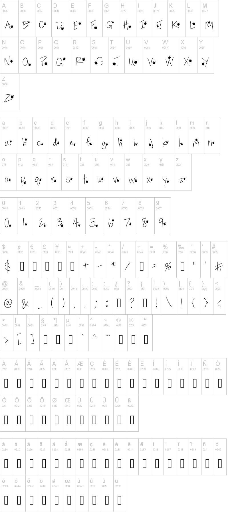 Paw Prints Font Dafont Com