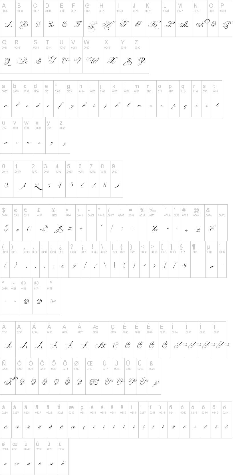 Çok çeşitli yazı fontları yazı stilleri