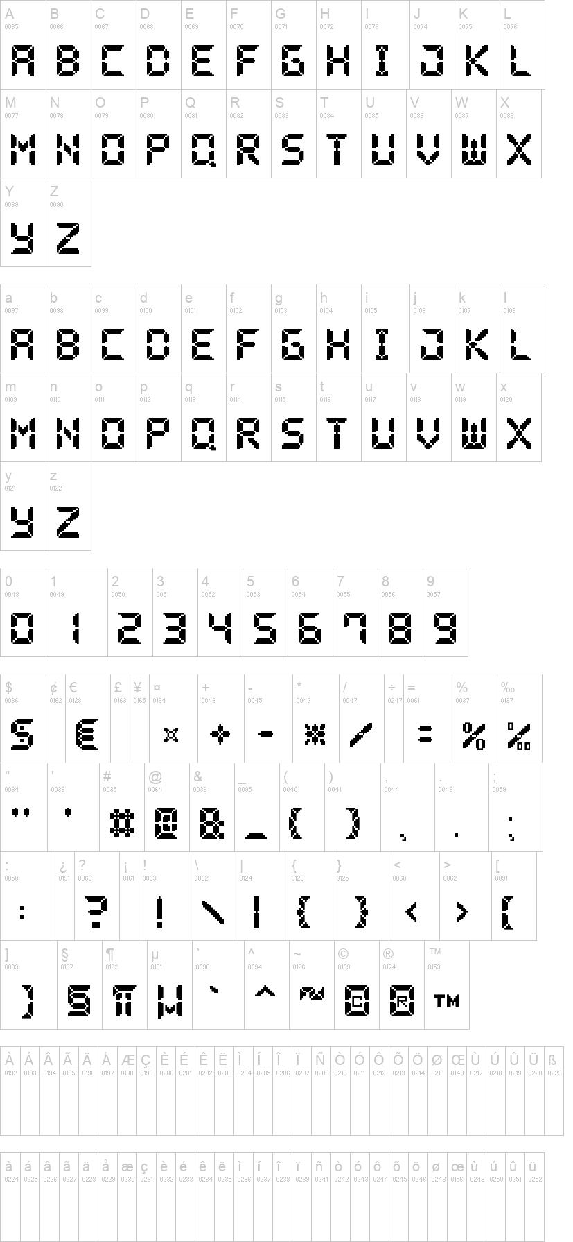 Pixel Lcd Font  DafontCom