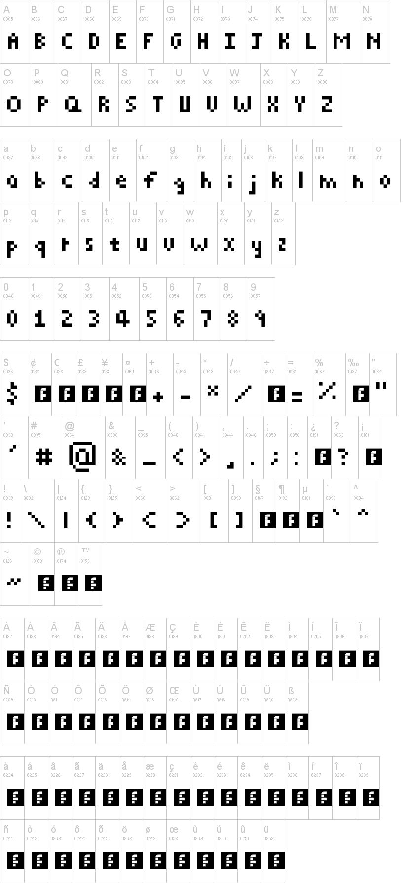 Pixelated Font   dafont com