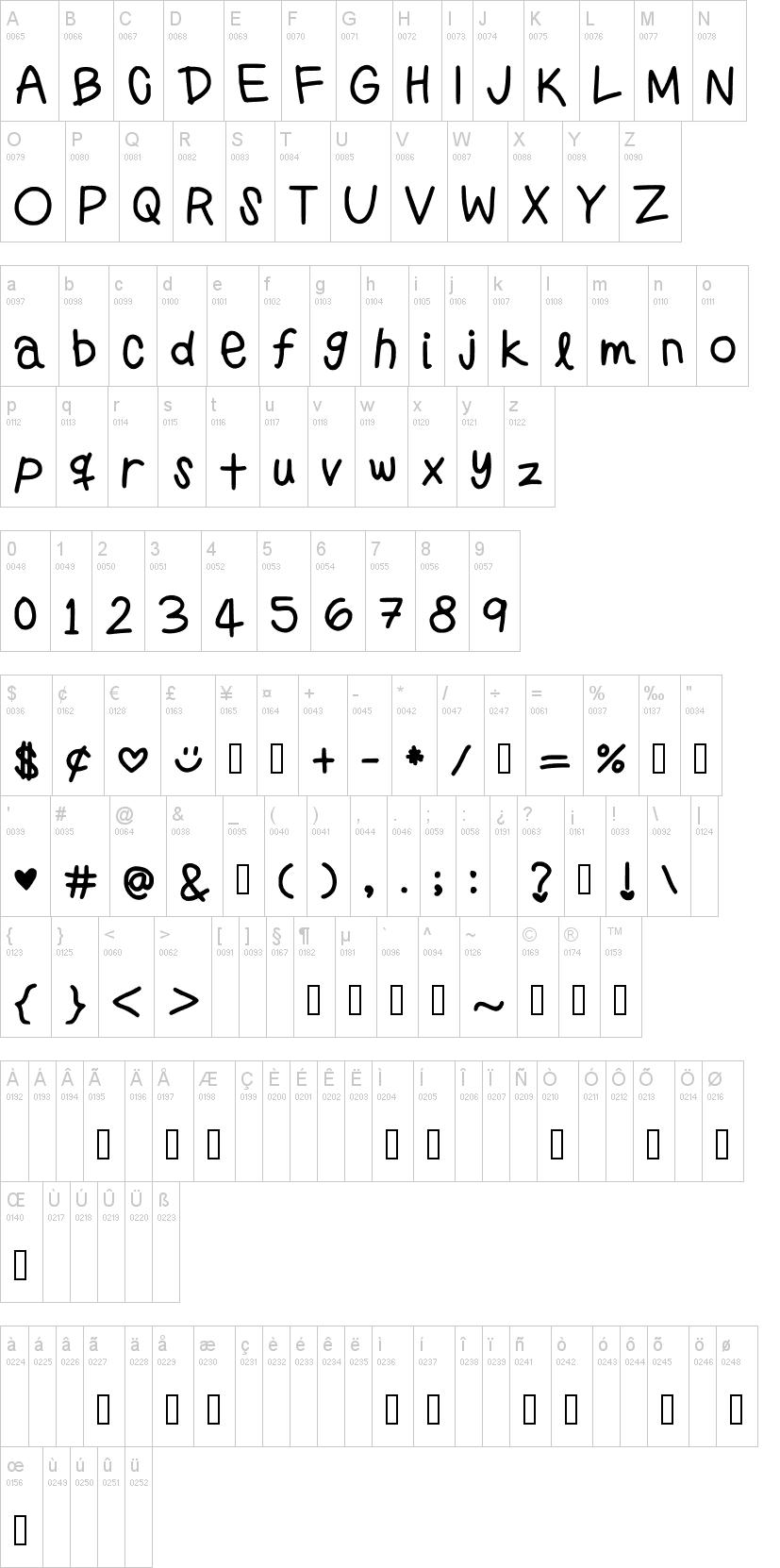 Preppy Girls Handwriting Font
