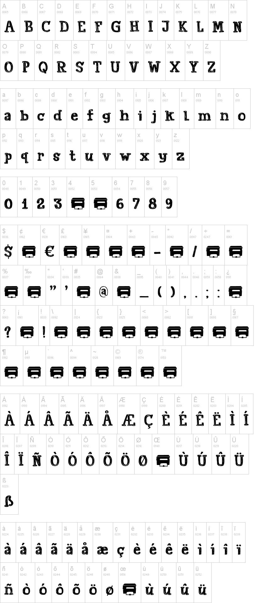 Printout Schriftart | dafont.com