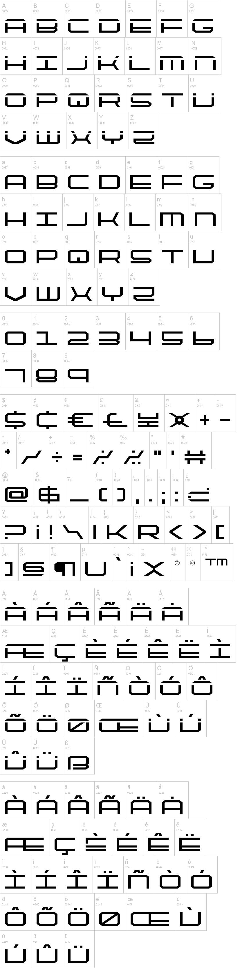Quick Tech Font