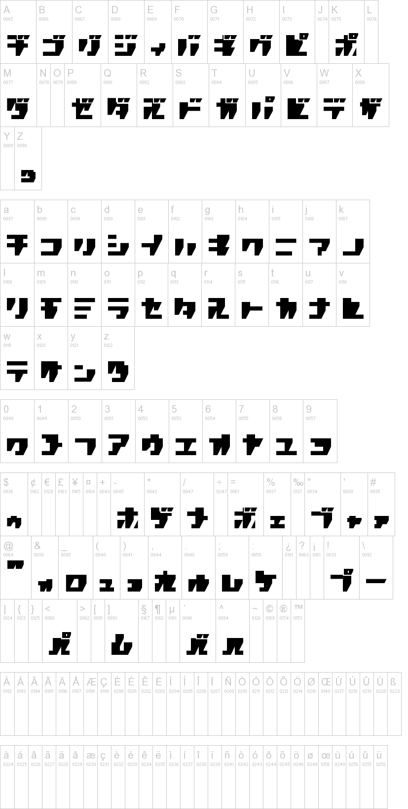 R P G Katakana Font Dafont Com