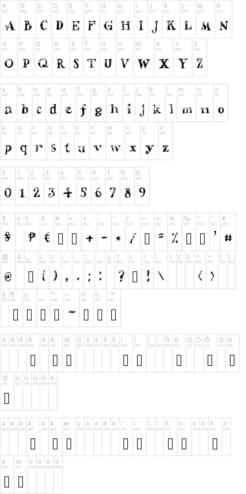 Shaded Letters