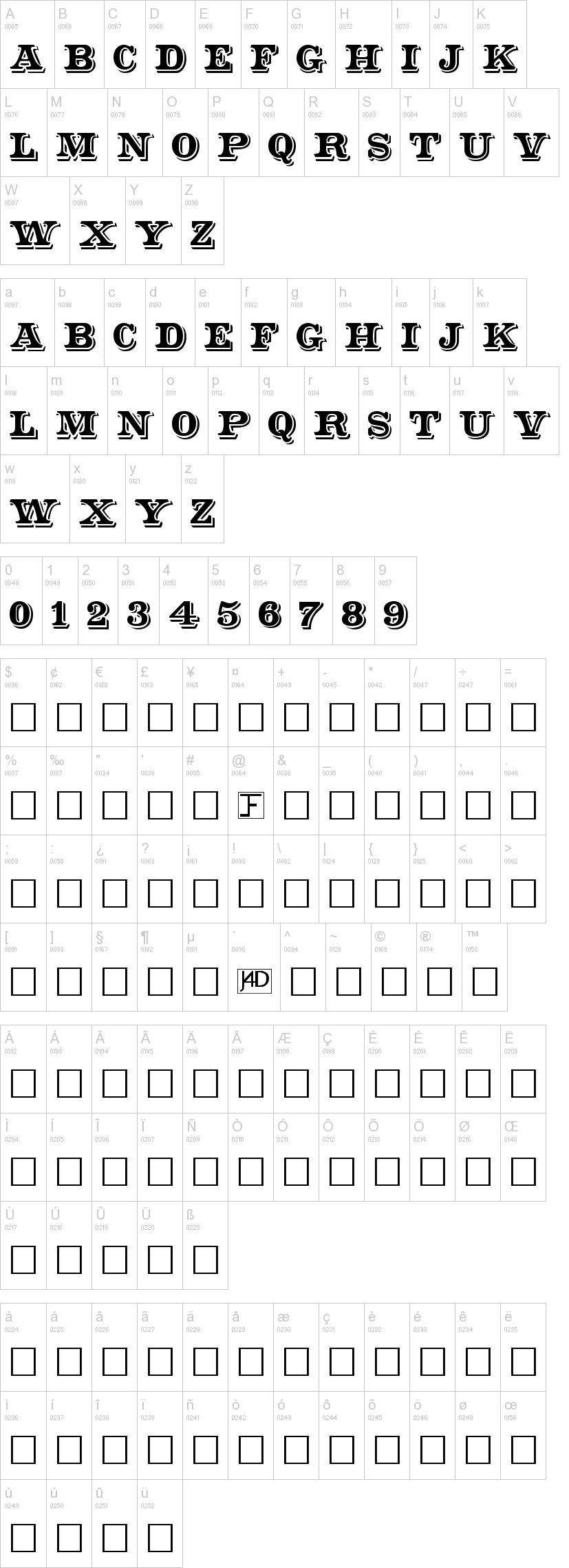 Shadowed Serif Font | dafont com