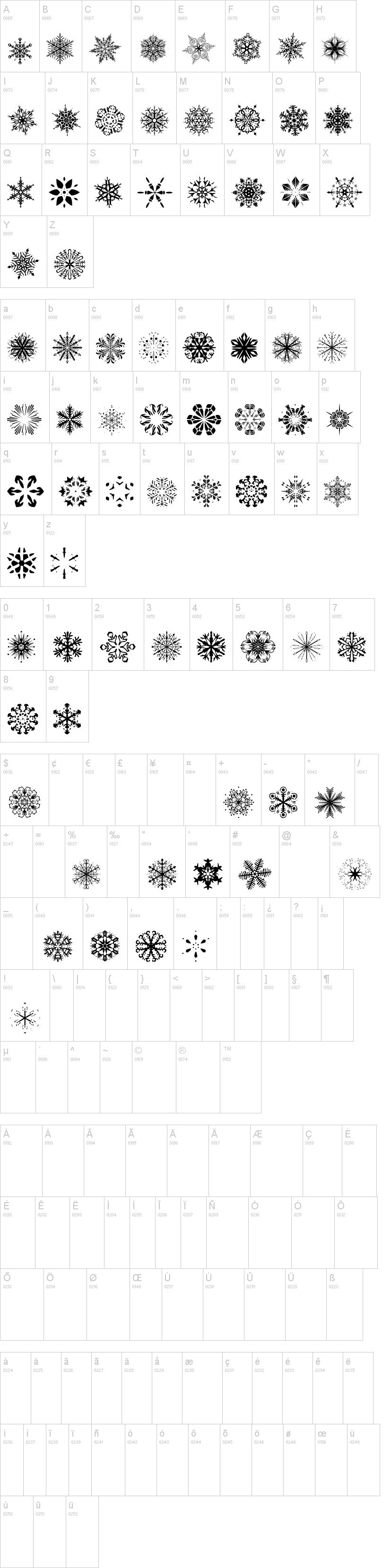 Snowflakes Tfb Font Dafont