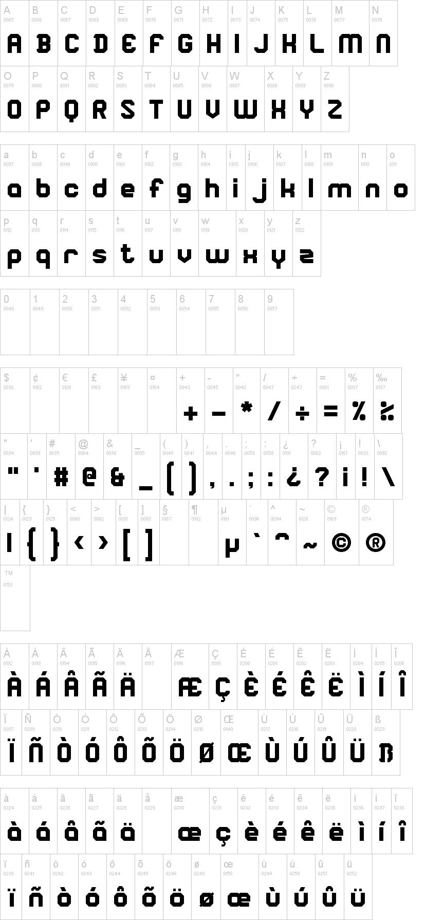 Square Block Font  DafontCom
