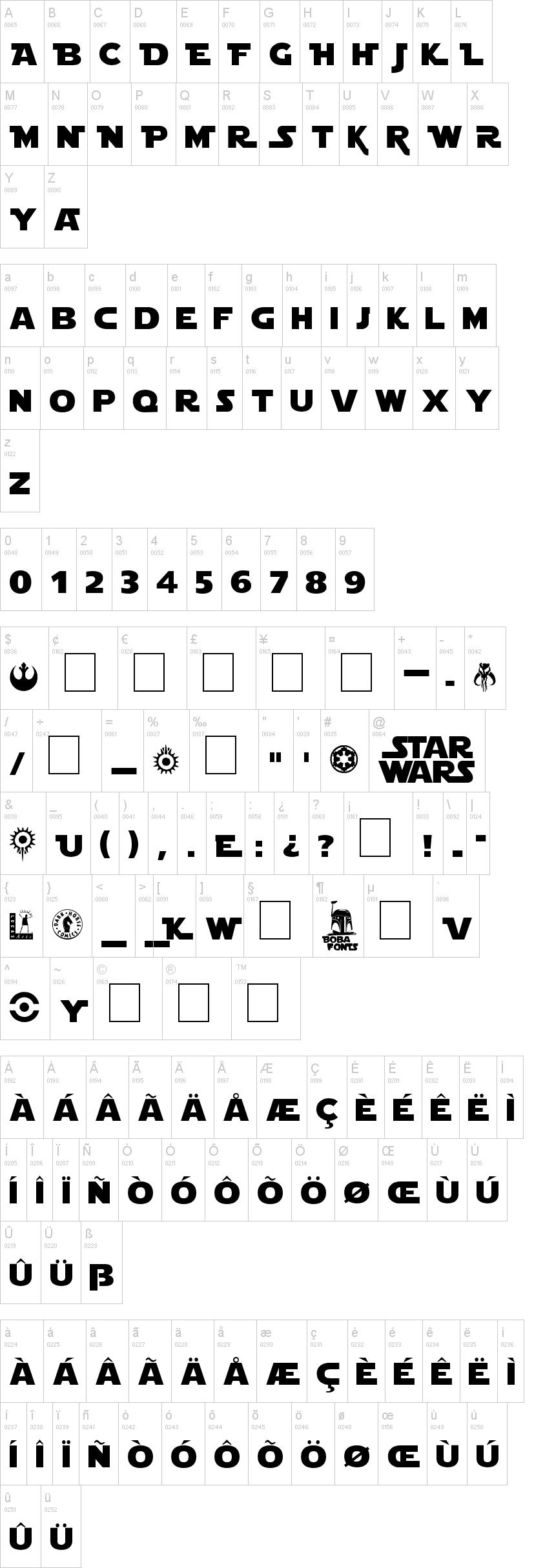 Star Jedi Font | dafont com