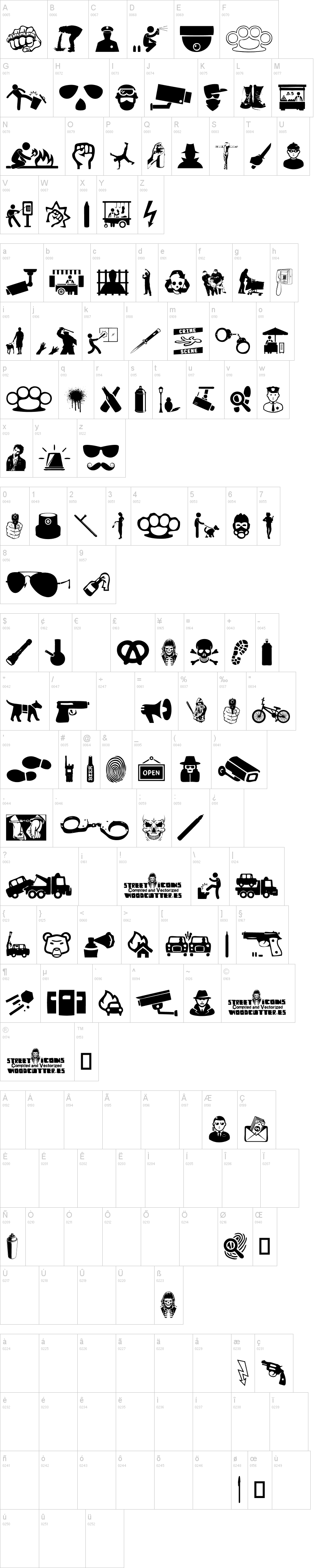 street icons font