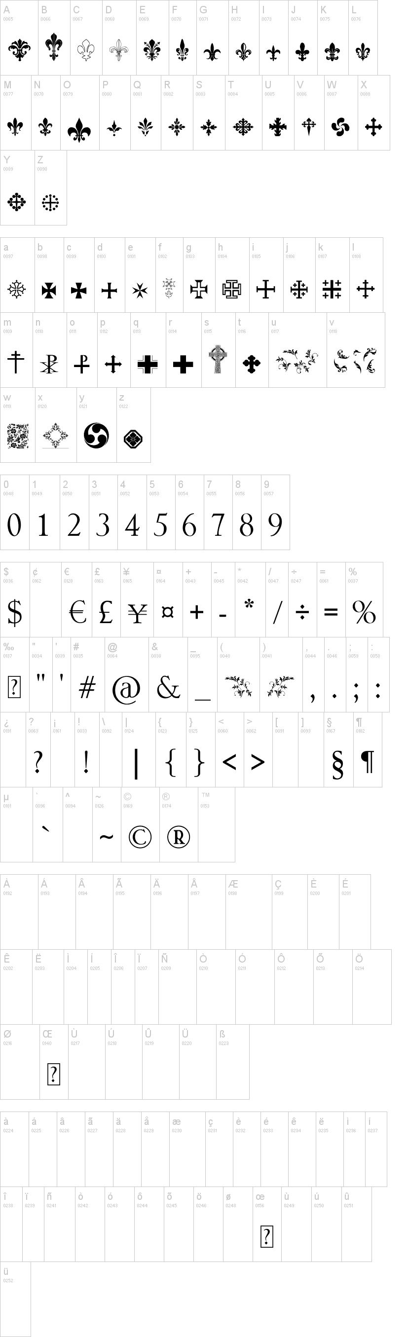 Symbol Crucifix Font Dafont