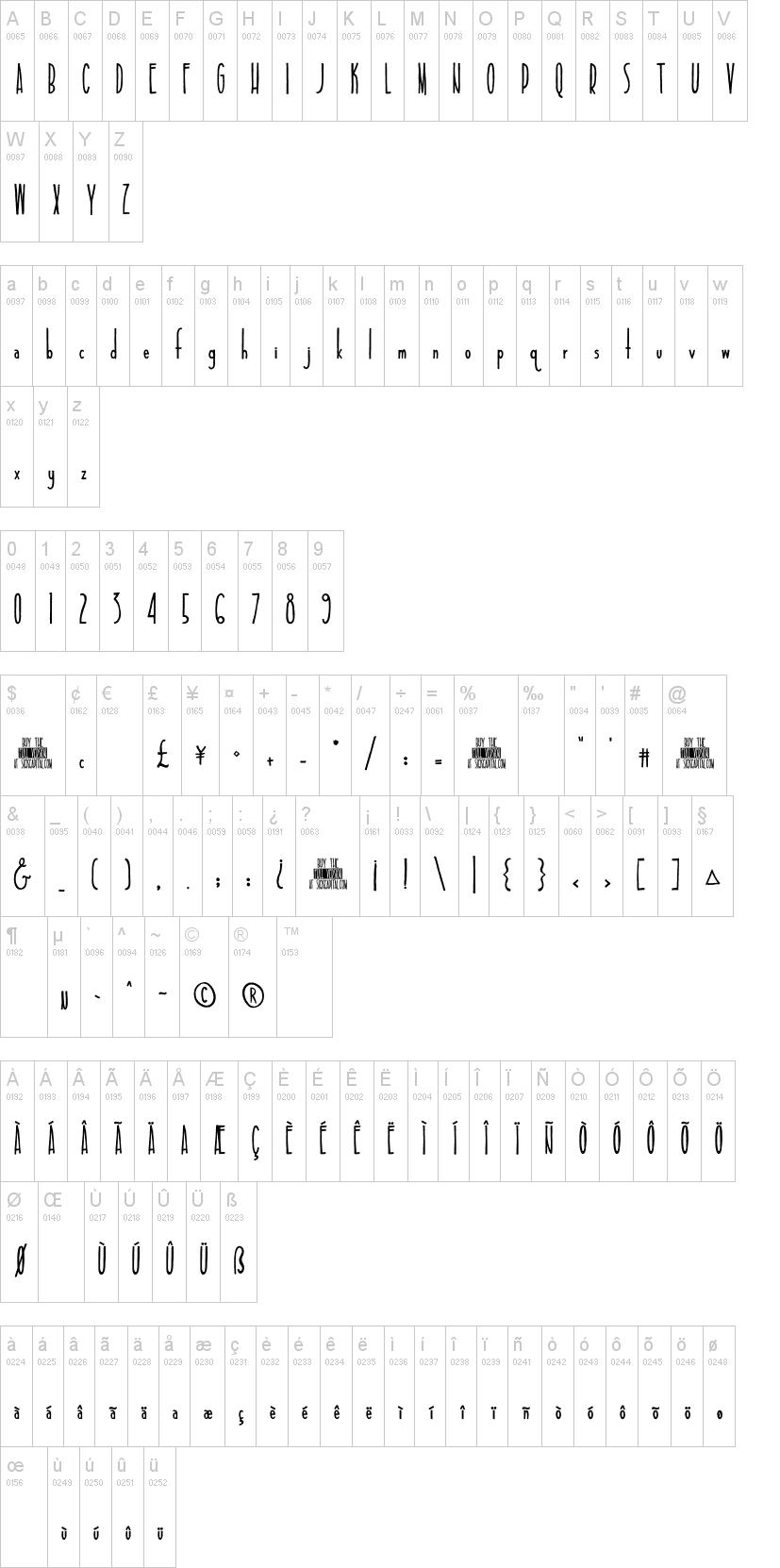 Tall & Slim Font | dafont com