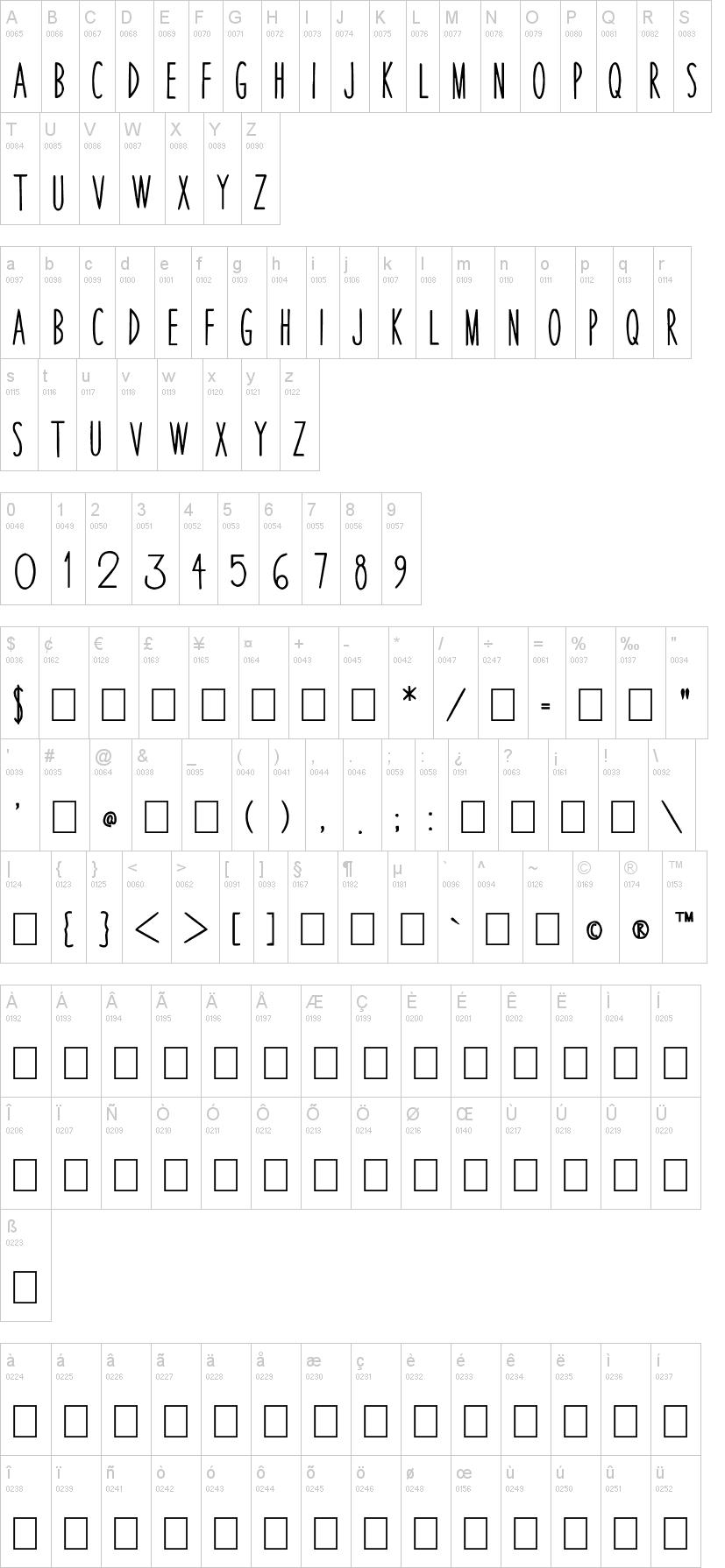 Thin Skinned Font | dafont com