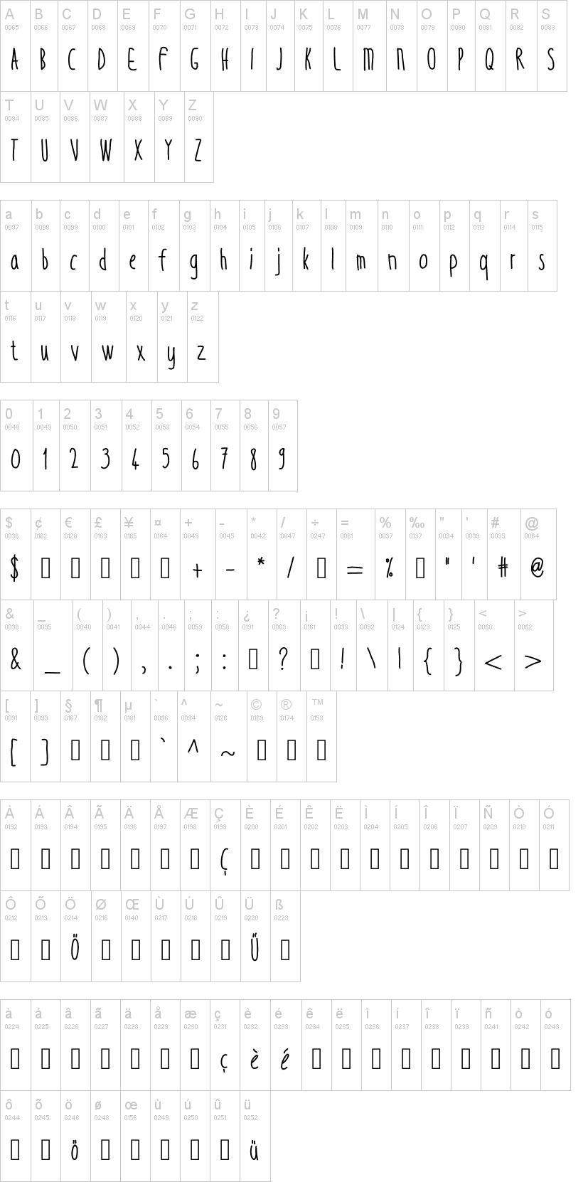 Thin Tall Font   dafont com