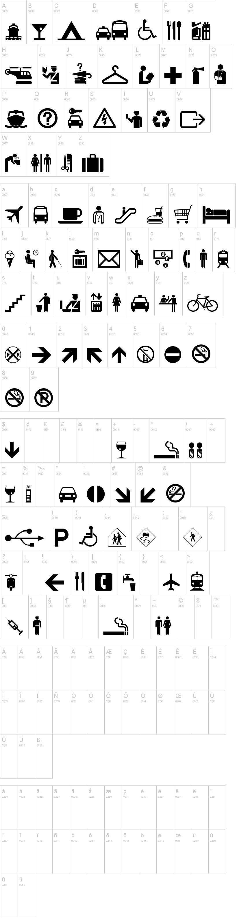 Travelcons Font Dafont
