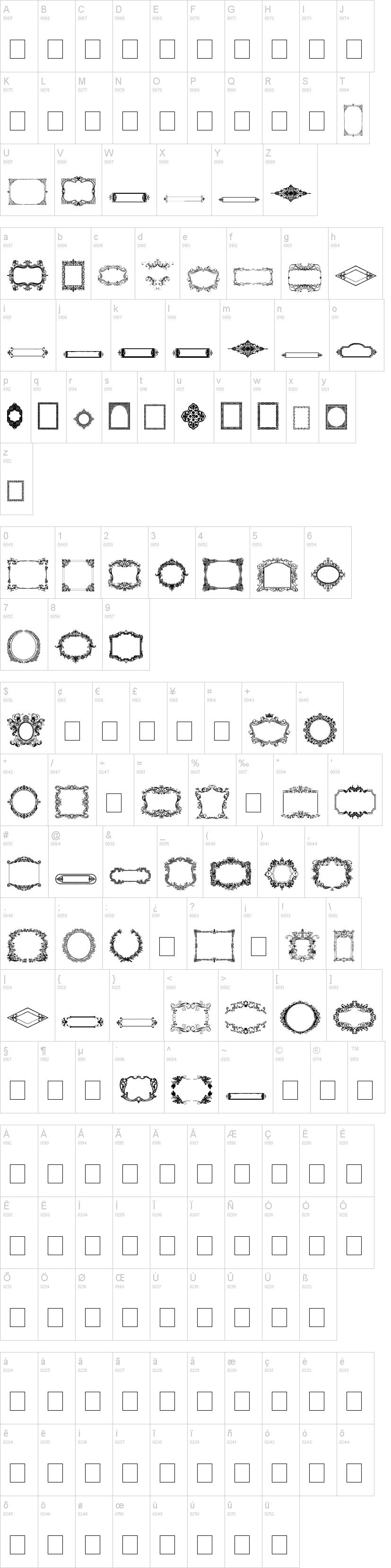 Vintage Frames Font