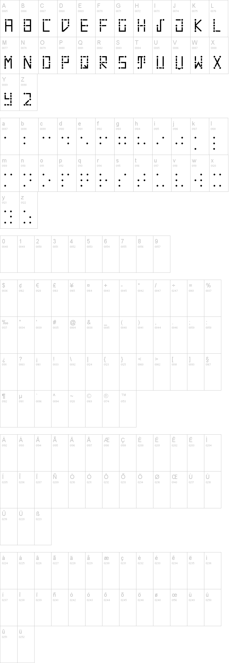 Visual Braille