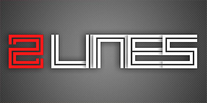 2 Lines Font | dafont com