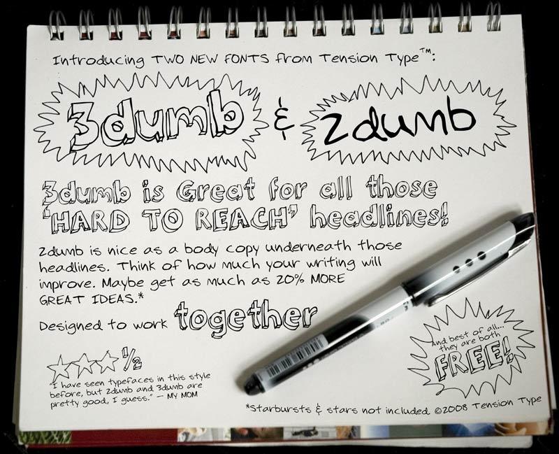 3Dumb 2Dumb Font
