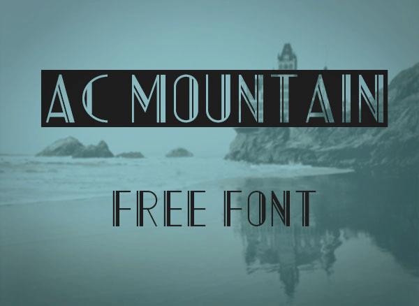 ac mountain dafontcom