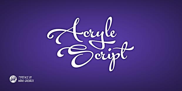Acryle script font dafont