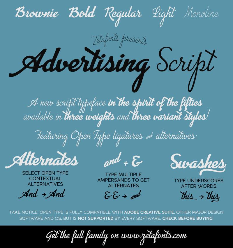 Advertising Script Font | dafont com