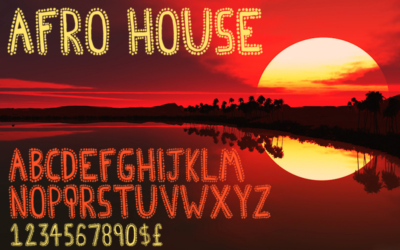 Afro House Font   dafont.com