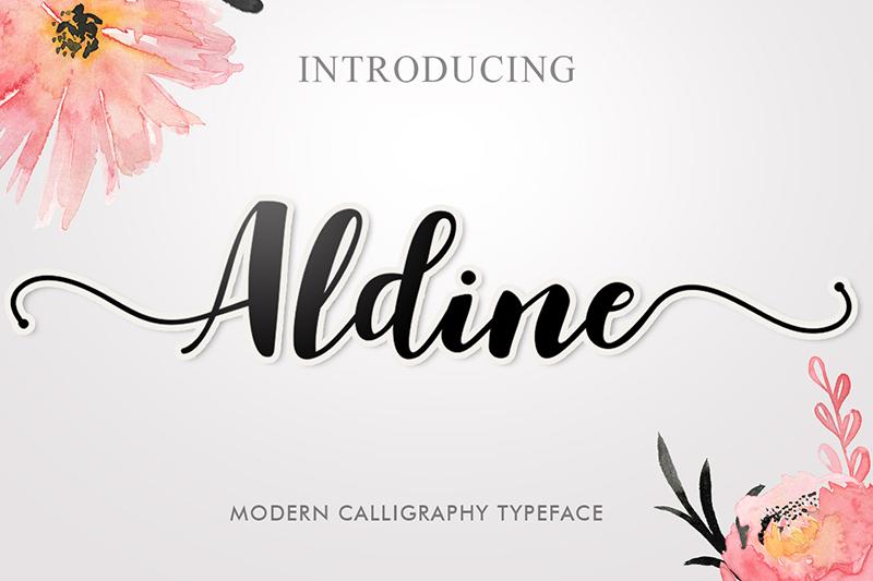 Aldine font dafont.com