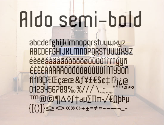 Aldo Font | dafont com
