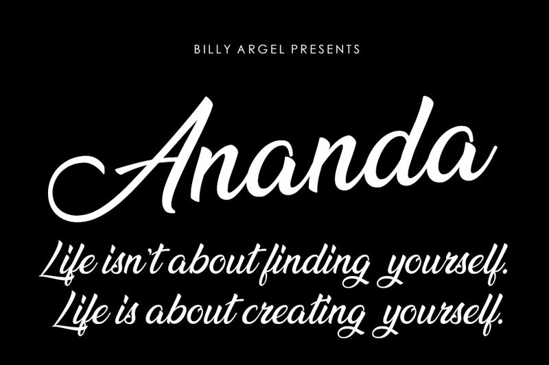 Ananda Font | dafont com