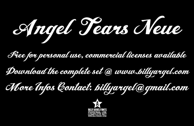 Angel tears font befonts. Com.