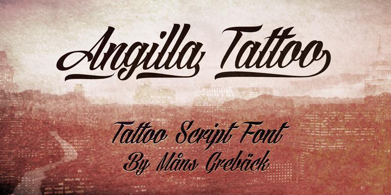 Illustration C Mans Greback Angilla Tattoo