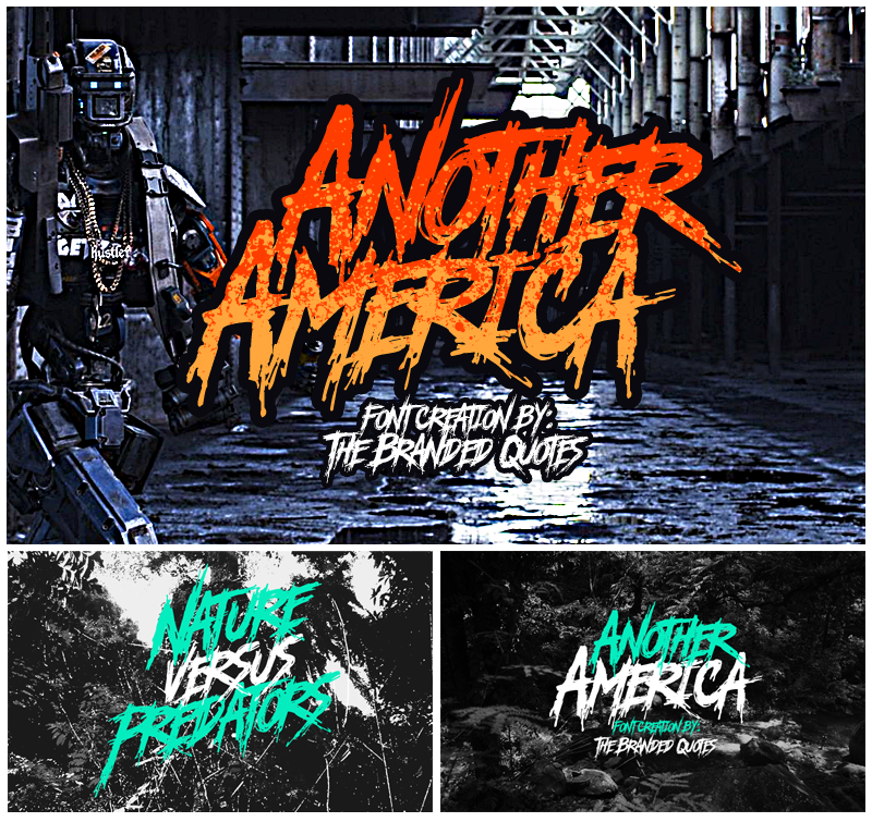 Deathcore Font Another America...