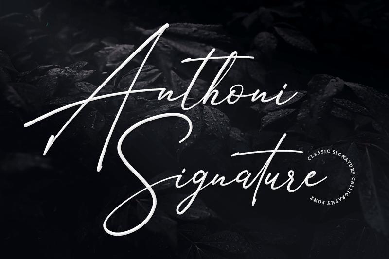 Anthoni Signature Font   dafont com