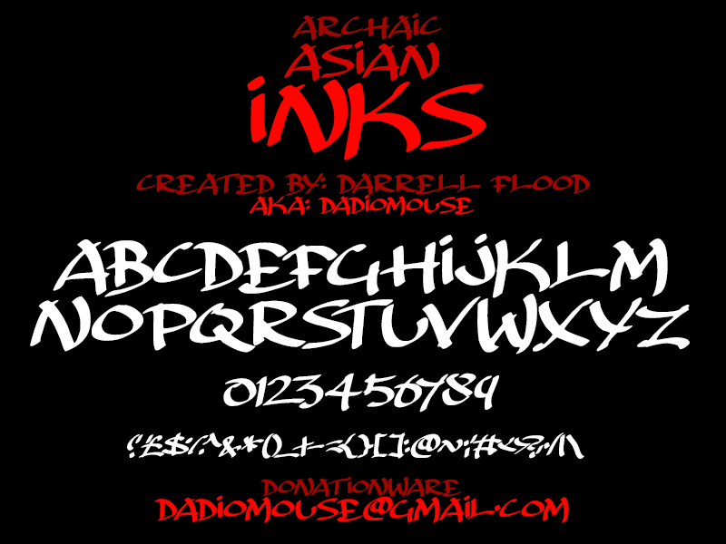 Like your Asian calligraphy fonts apologise