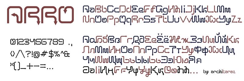 Arro Terminal Font | dafont com