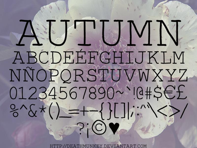 Autumn Font | dafont com