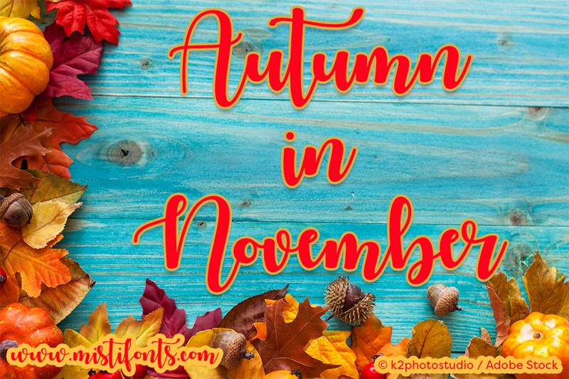 Autumn in november font dafont.com