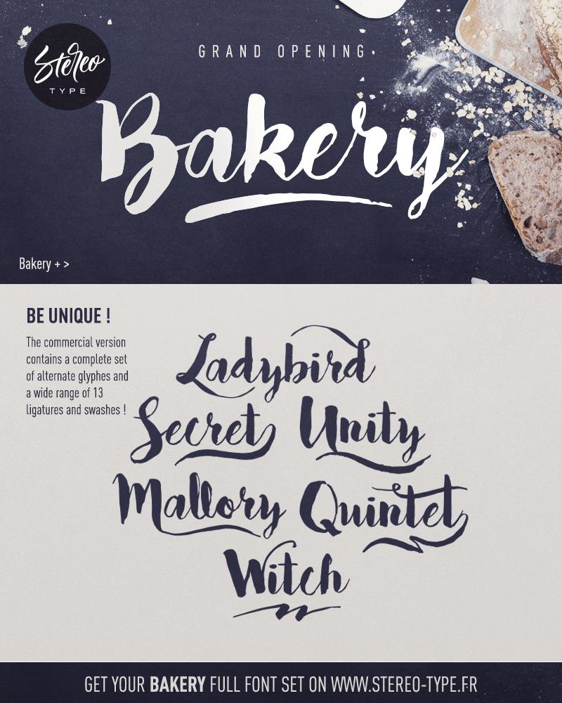 Bakery Font | dafont com