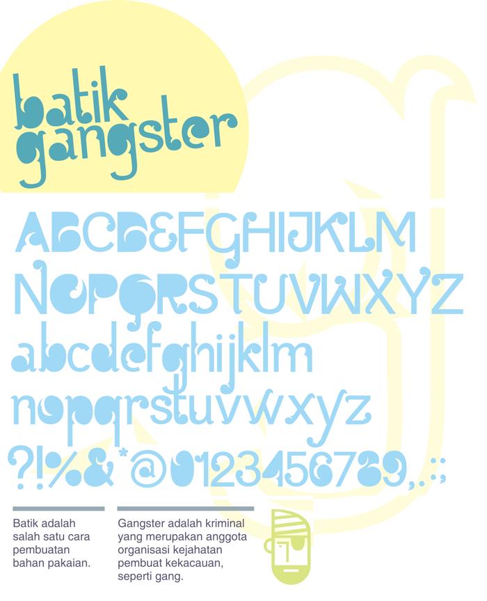 Batik gangster free font download.