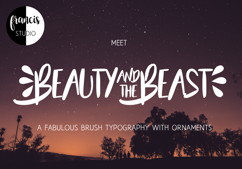 Beauty And The Beast Custom Preview Fonts
